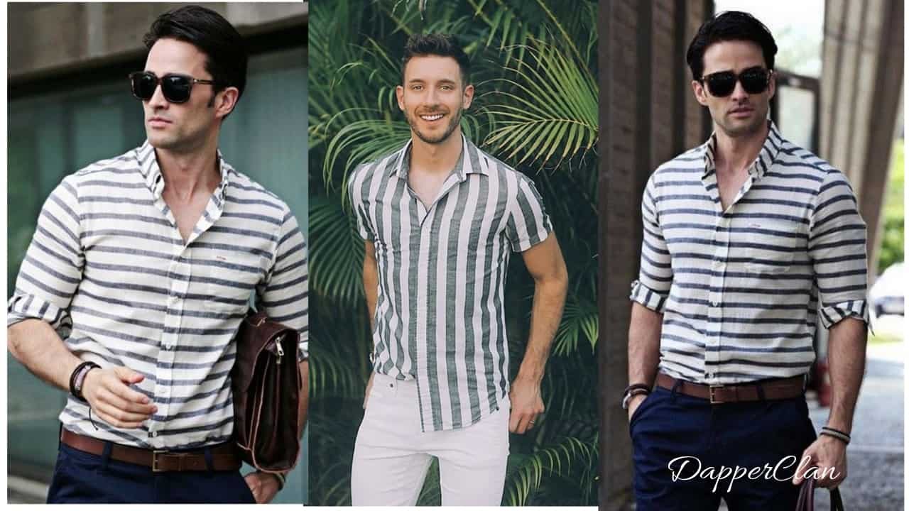 Skinny mens fashion, wear horizontal stripes