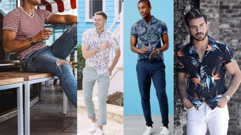 play around with patterns and colours, mens fashion for summer
