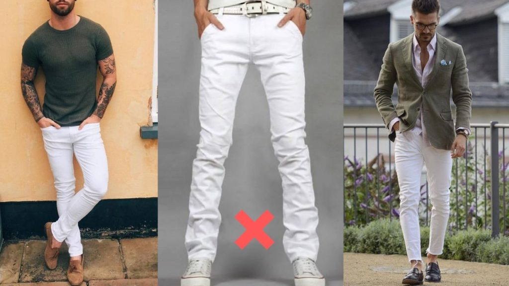 white jeans outfit men-fit