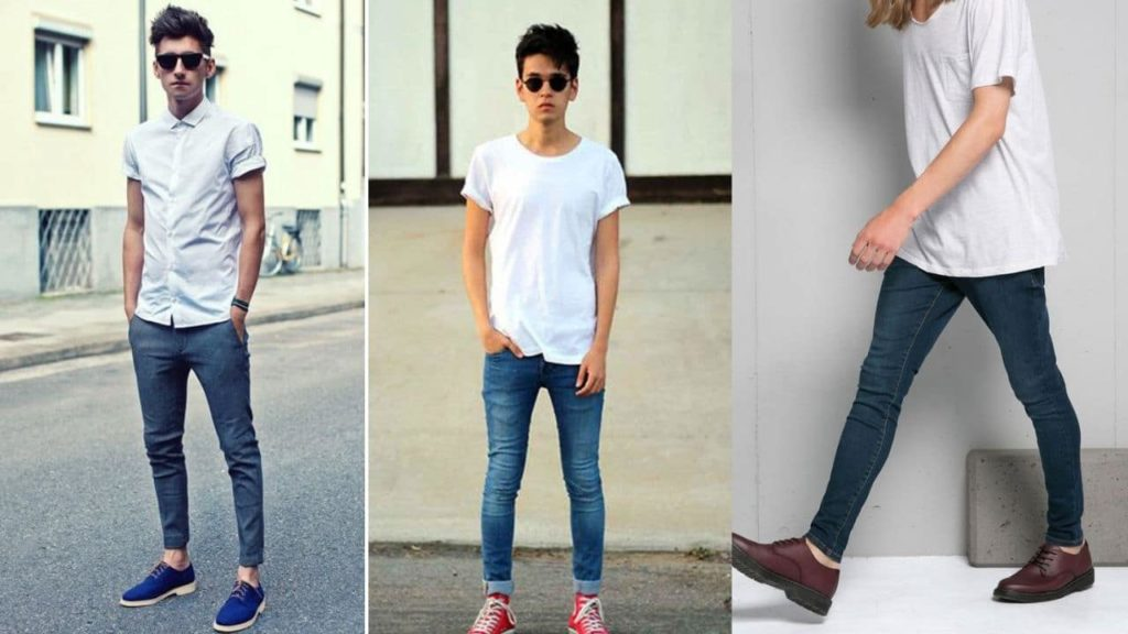 avoid very light material for skinny mens fashion