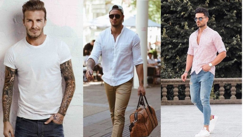 material of clothes are important part of summer style for men