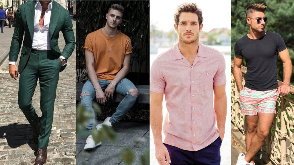 summer style for men is all about thebold colours