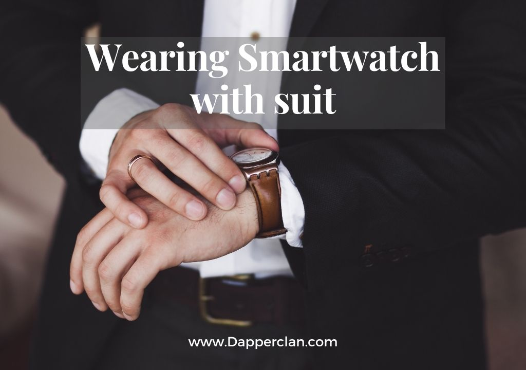 wearing smartwatch with a suit, apple watch with suit