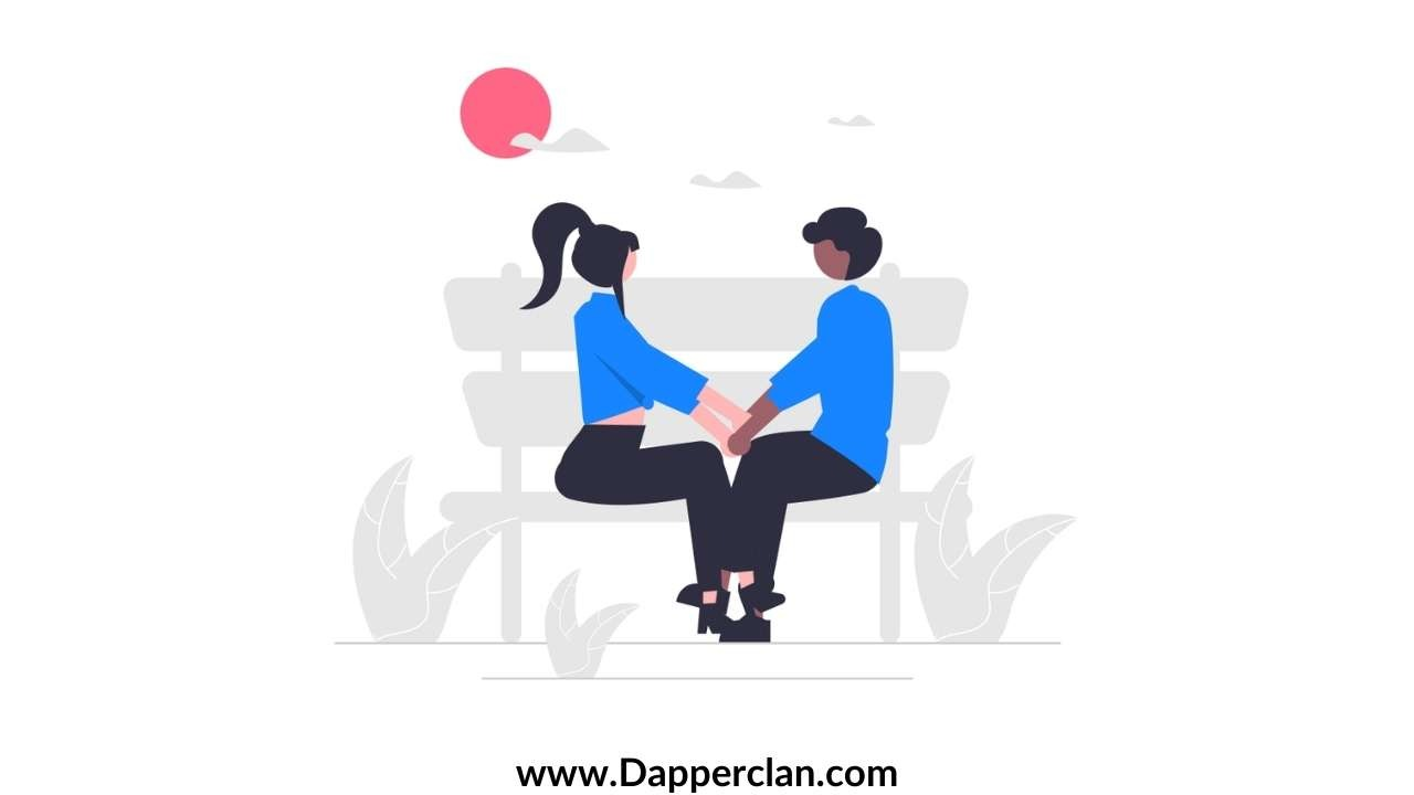 flirty questions to ask a girl illustration of a couple sitting together