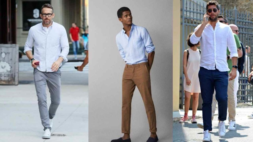 oxford shirt with chinos outfit