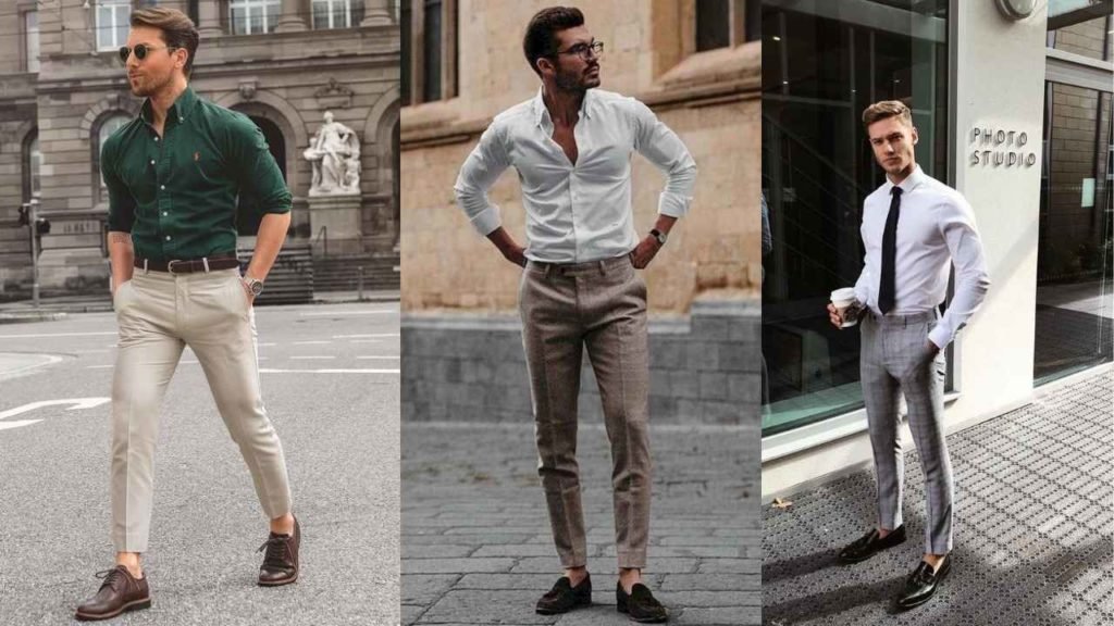 oxford shirt with formal trouser pants